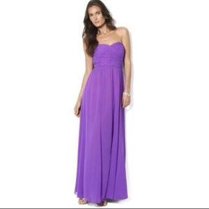 Ralph Lauren S 4 Purple Strapless Formal dress